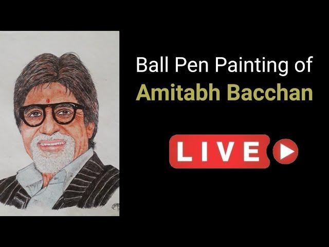 Amitabh Bacchan   Ball Pen Painting by Vishal Garad