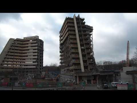 Postpyramide Hamburg, Impressionen eines Abrisses