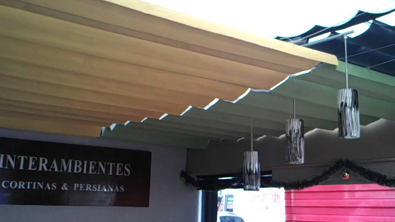 Persiana para domo youtube for Cortina para claraboya de techo