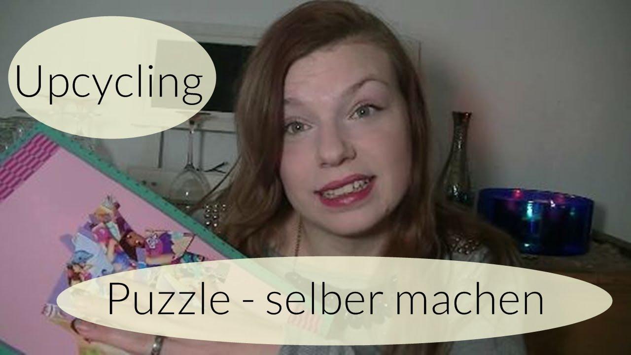 puzzle selber machen i upcycling i basteln mit kindern i deutsch