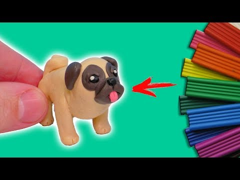 How to make DOG BREED PUG with Clay