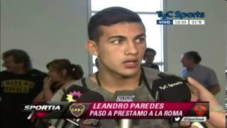 """Leandro Paredes """"Me voy triste"""""""