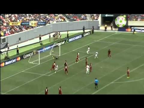 il gol di vidic inter vs Roma 2 0   International Champions Cup 2014