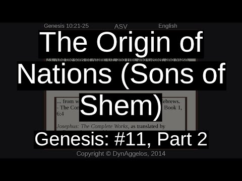 The Origin of Nations (Sons of Shem)