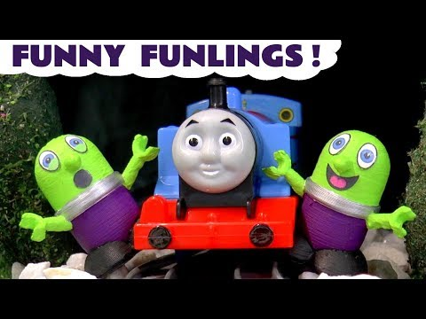 Funny Funlings with Thomas and Friends Toy Trains Tunnel Echo Game - Fun toy story for kids TT4U