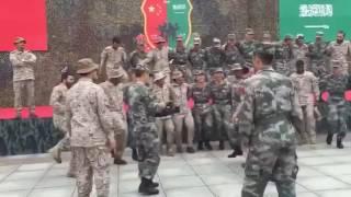 """بالفيديو : """"لبيك يا سلمان"""" تختتم فعاليات تمرين القوات الخاصة السعودية والصينية"""