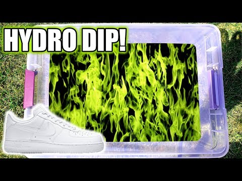 hydro-dipping-air-force-1's-in-green-flames!!