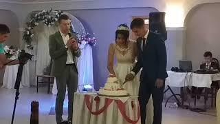 Свадьба.Гости.Торт. Поздравляю молодых 💟💟🤗