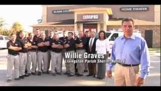Certified Alarm Systems Commercial - Featuring Retired Livingston Parish Sheriff Willie Graves