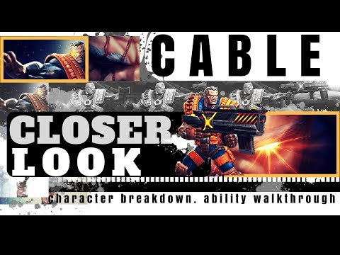Closer Look: Cable - Full Ability Walkthrough | Marvel Contest of Champions
