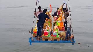 Ganesh Nimajjanam  l Ganesh nimajjanam in Hussain Sagar l Hyderabad Ganesh Nimajjanam