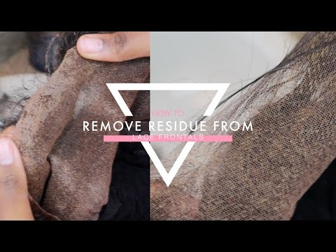 HOW TO: REMOVE RESIDUE FROM LACE FRONTALS!!! | Mary Elizabeth