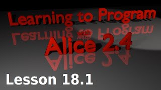 Alice Tutorial 2.4 Lesson 18.1 - Basic Mouse Tracking (1 Of 3)