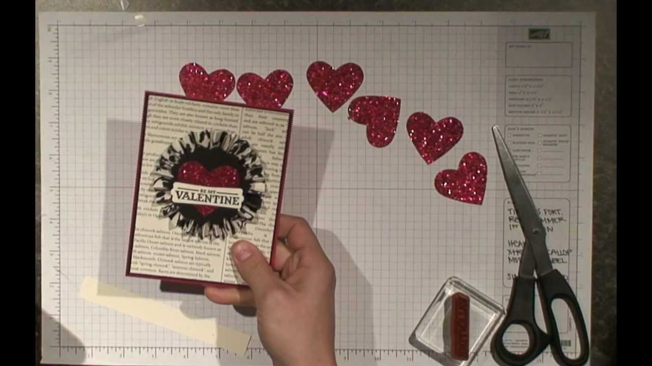 stampin up be my valentine card youtube - Stampin Up Valentine Cards
