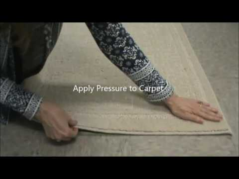 Double Sided Carpet Tape Area Rug Application Youtube