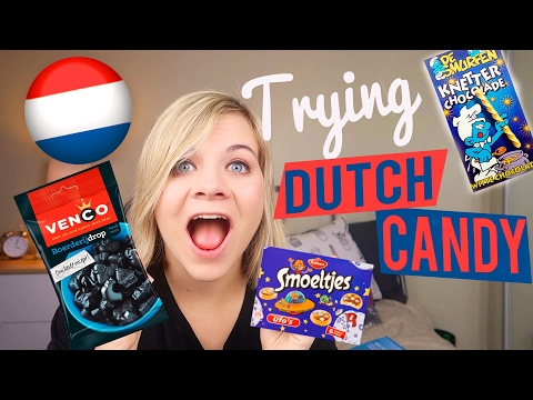 🇳🇱 AMERICAN TRYING DUTCH CANDY! 🇳🇱 // SoCassie