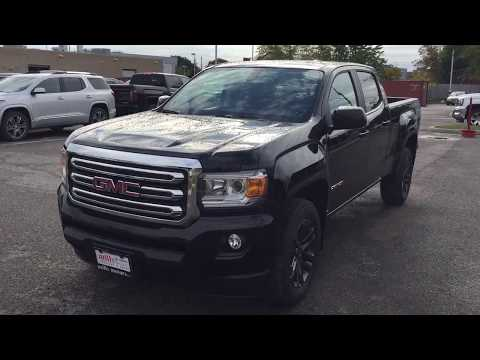 2018 GMC Canyon SLE V6 Engine 4WD Crew Cab Black Oshawa ON Stock #180214