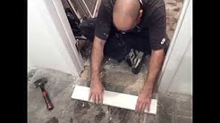 How To Install A Doorway Marble Threshold !! ( BASEMENT DIY )