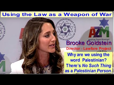Brooke Goldstein - The Law as a Weapon of War - American Zionist Movement - Speech