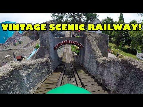 Scenic Railway Vintage Wooden Roller Coaster Hochschaubahn Wiener Prater Onride POV Vienna Austria