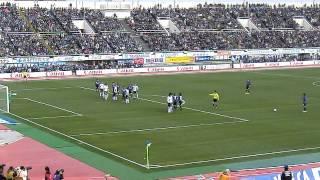 G大阪VS神戸 遠藤保仁フリーキック