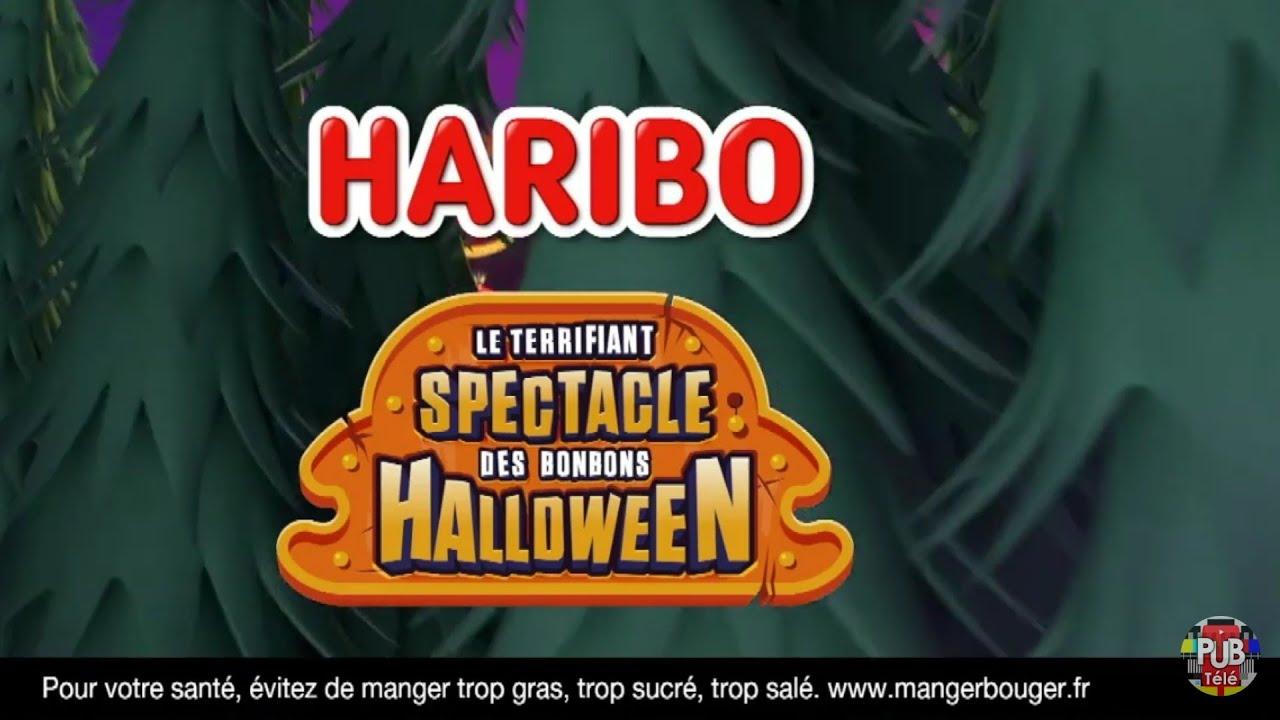 """Musique pub Haribo """"le terrifiant spectacle des bonbons Halloween""""  juillet 2021"""