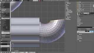 Screencast subdivided pipes modeling