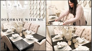 DECORATE WITH ME | Dining Room Edition