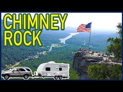 Hiking Chimney Rock State Park, North Carolina