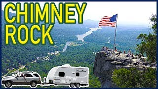 Hiking Chimney Rock State Park, North Carolina