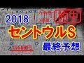 セントウルステークス 2018 最終予想 【競馬予想】