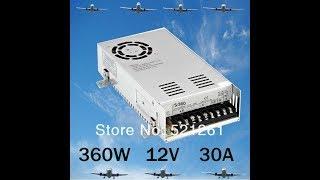 Полный обзор и Доработка блока питания S-360-12