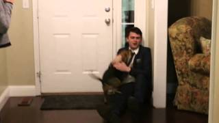 Dog reacts to return of Nathan after two year Mormon mission