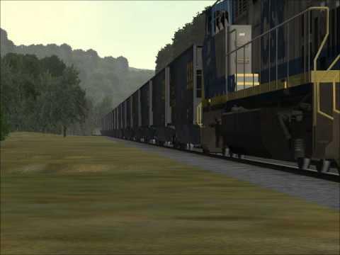 MSTS: CSX Empty Coal Train U883 on Sandpatch route