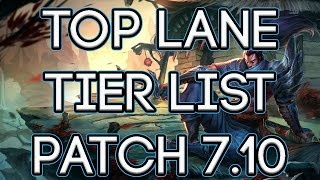 Top Lane Tier List Patch 7.10 | Best Top Laners To Carry Solo Queue Patch 7.10