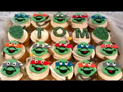 How To Make Ninja Turtles Cupcakes