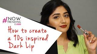 How To Create A 90s Inspired Dark Lip Ft. Corallista | Nykaa