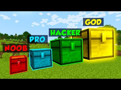 Minecraft NOOB vs. PRO vs. HACKER vs. GOD: GIANT CHEST in Minecraft! (Animation)