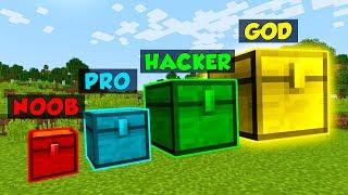 Minecraft NOOB vs PRO vs HACKER vs GOD GIANT CHEST in Minecraft (Animation)