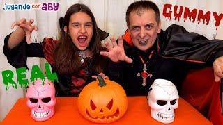 GUMMY vs REAL de Halloween