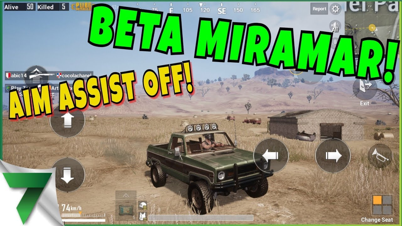 NEW MAP BETA FIRST GAME! AIM ASSIST OFF!! | PUBG MOBILE