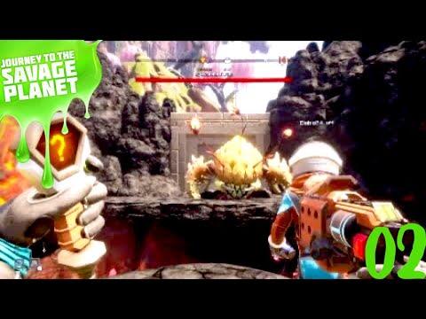 journey to the savage planet Nôtre Premier Boss Coop(Diablo) #02