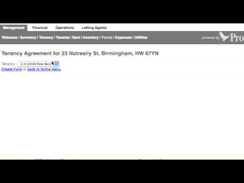 Creating Tenancy Agreements Free Forever Using The Free Property Management Software