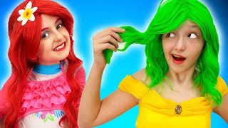 Princess Beauty Salon with Princess's Dresses Transformation   Super Elsa