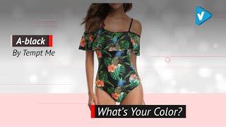 Tempt Me Women One Piece Flounce Swimsuit Pineapple Printed Off Shoulder Bathing Suit | 2019 Trends
