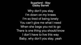 Sugarland & Gabby Barrett - Stay Lyrics American Idol