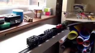 Tran-office-railway Using Ikea Shelves And Hornby Trains And Track