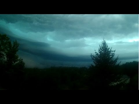 August 2, 2015 Traverse City Michigan, inside the Storm