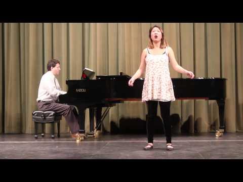 """Giacomo Puccini, """"O mio babbino caro.""""  Hana Chwe, soprano, and Andrew Banks, piano."""