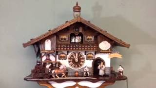 Black Forest 8 Day Cuckoo Clock Beer Maiden Zenzi Schneider